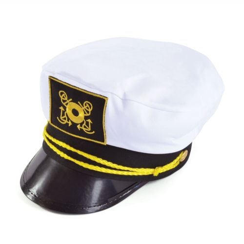 Sailor Captains Cap Navy Crew Military Seaman Fancy Dress Accessory